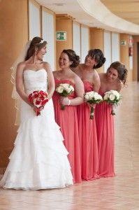 OP bridesmaids bouquet ceremony flowers aisle