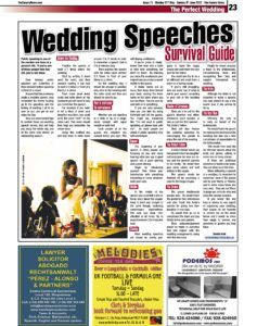 The Canary News_Wedding Speeches