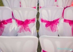 Wedding ceremony chair bows - Lazos de sillas boda