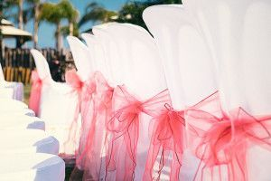 Wedding chair bows Gran Canaria